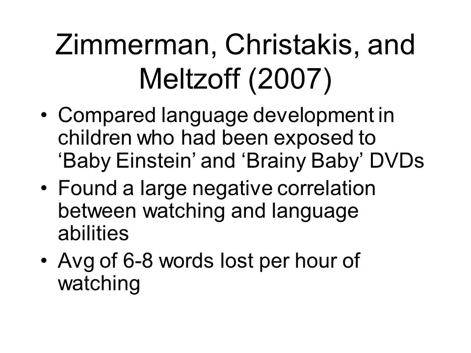 Zimmerman, Christakis, and Meltzoff (2007)
