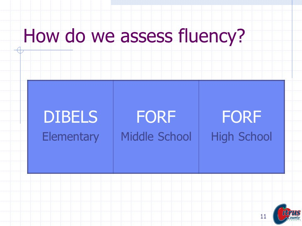 How do we assess fluency