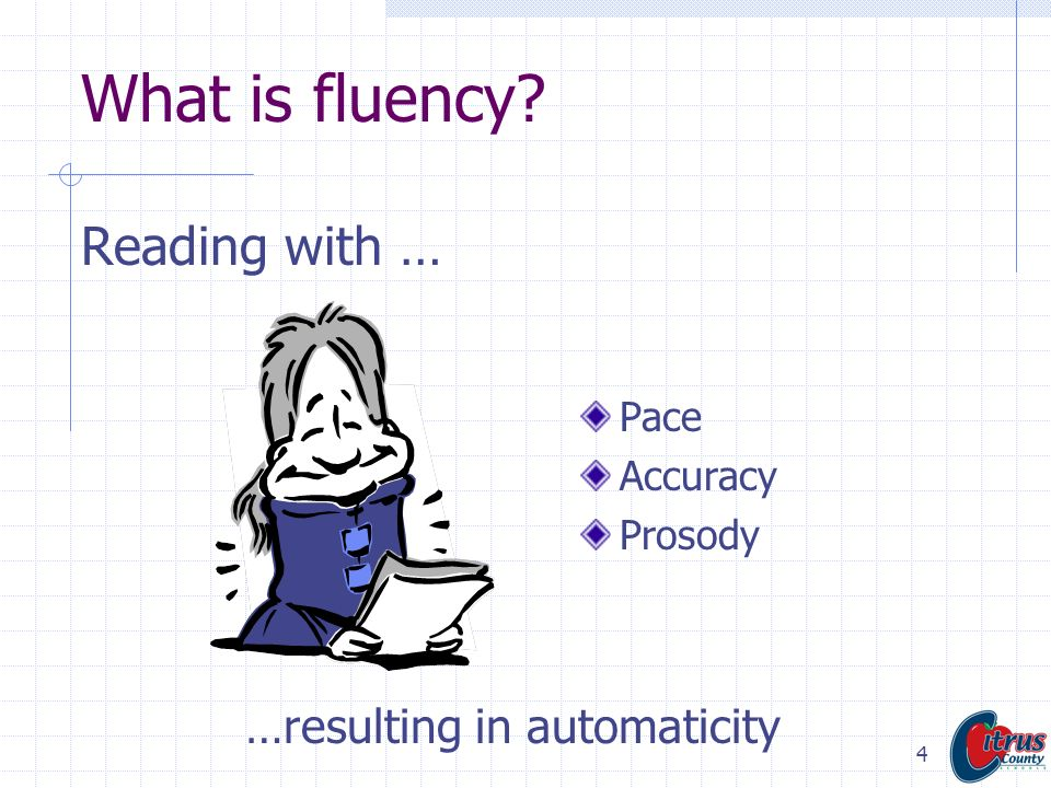 What is fluency Reading with …