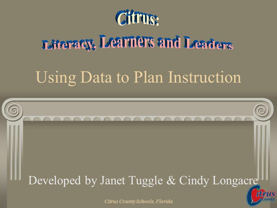 Using Data to Plan Instruction