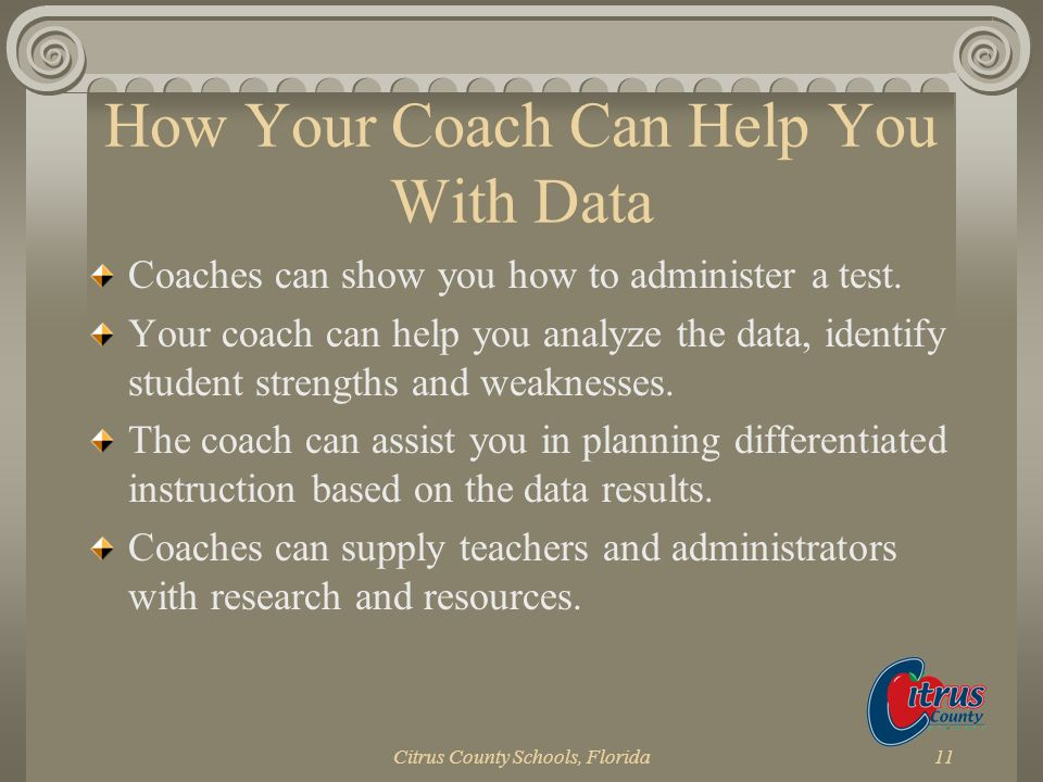 How Your Coach Can Help You With Data