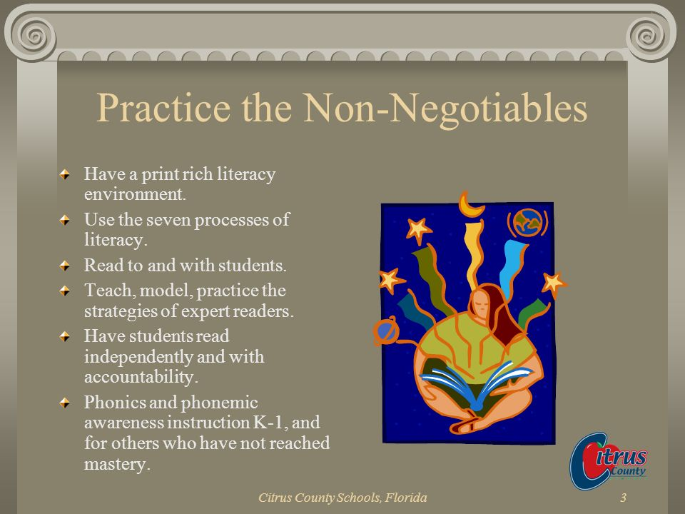 Practice the Non-Negotiables