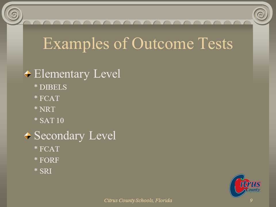 Examples of Outcome Tests