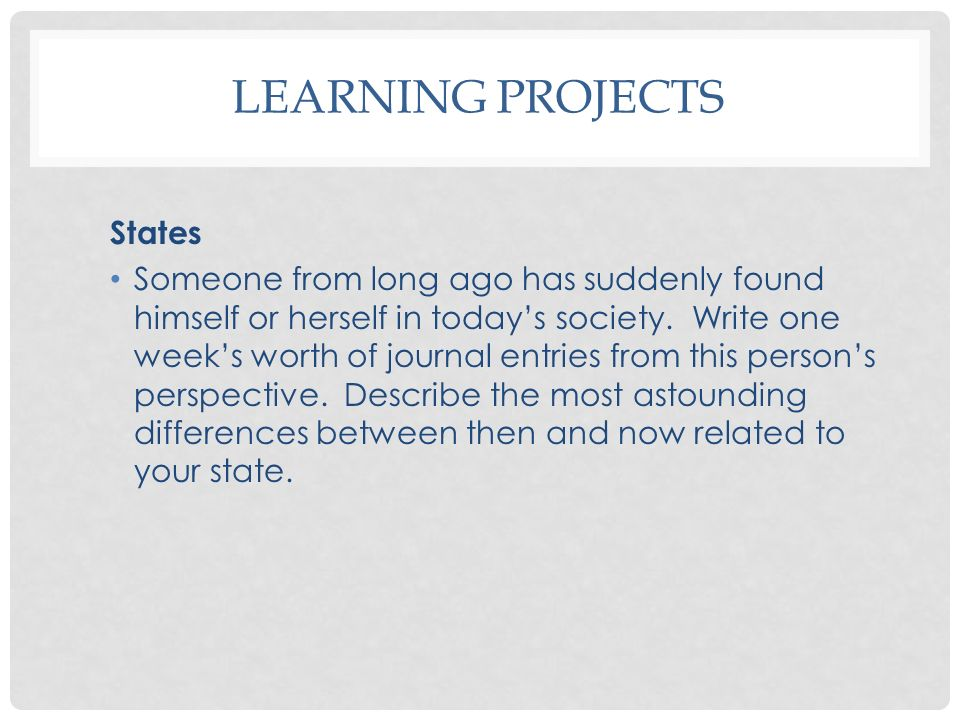 Learning Projects States
