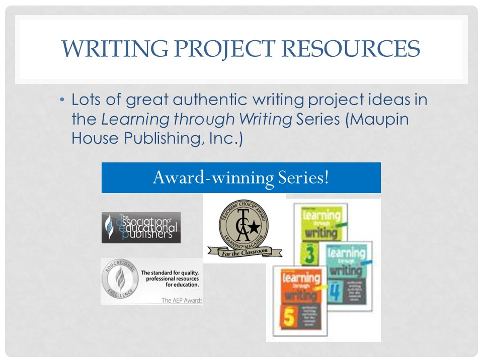 Writing Project Resources