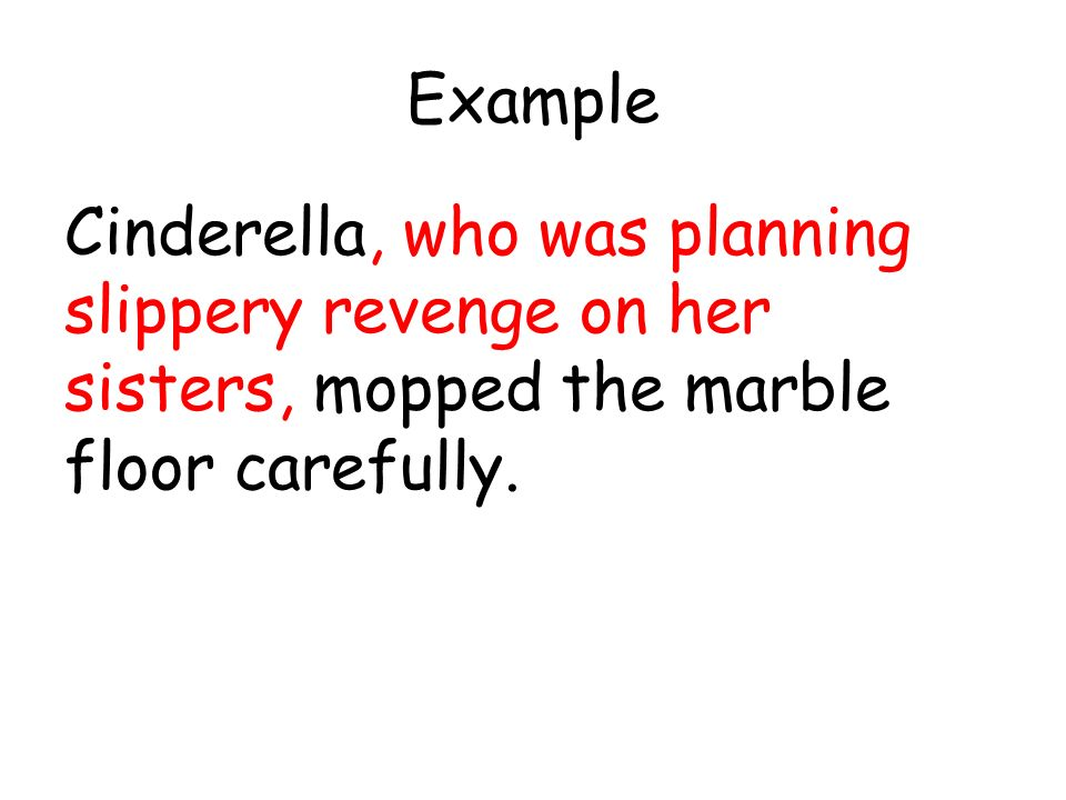 Success criteria can i embed a relative clause in 3 5 for Floor sentence