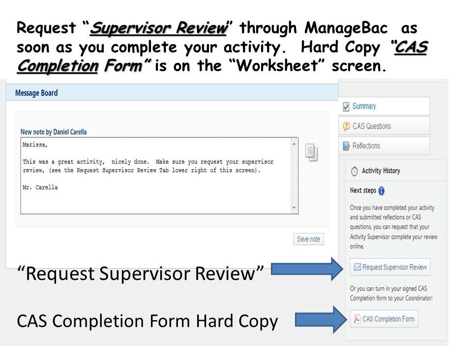 Request Supervisor Review