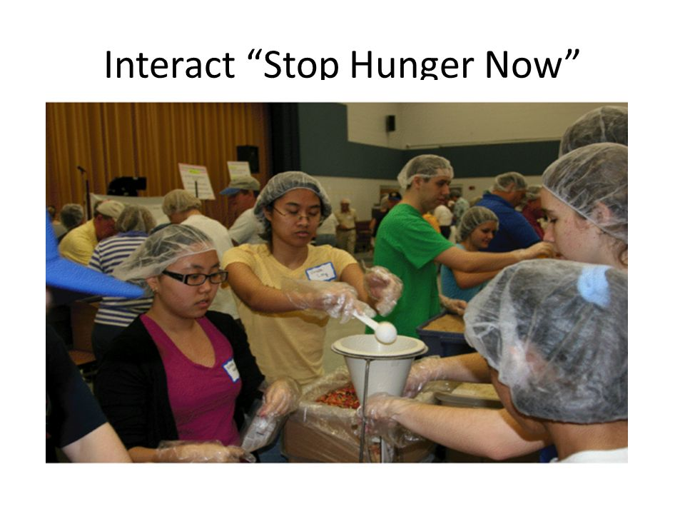 Interact Stop Hunger Now