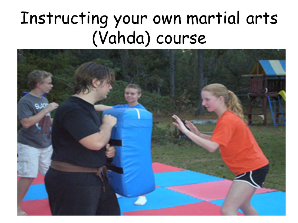 Instructing your own martial arts (Vahda) course