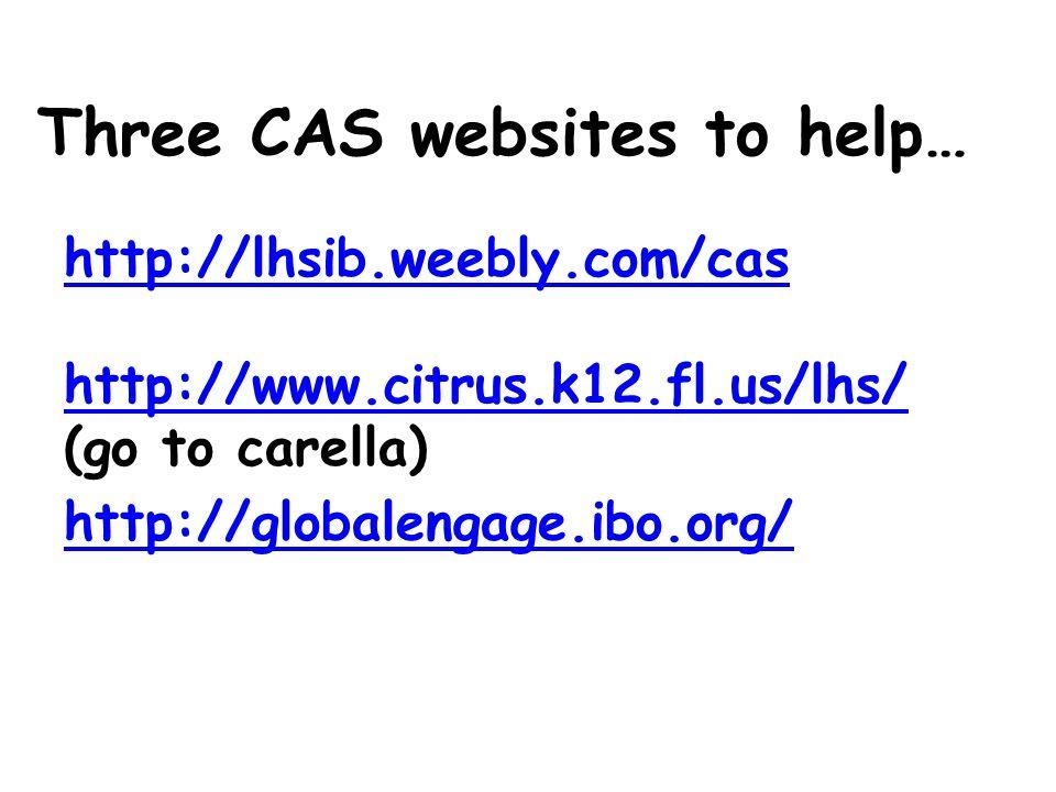 Three CAS websites to help…