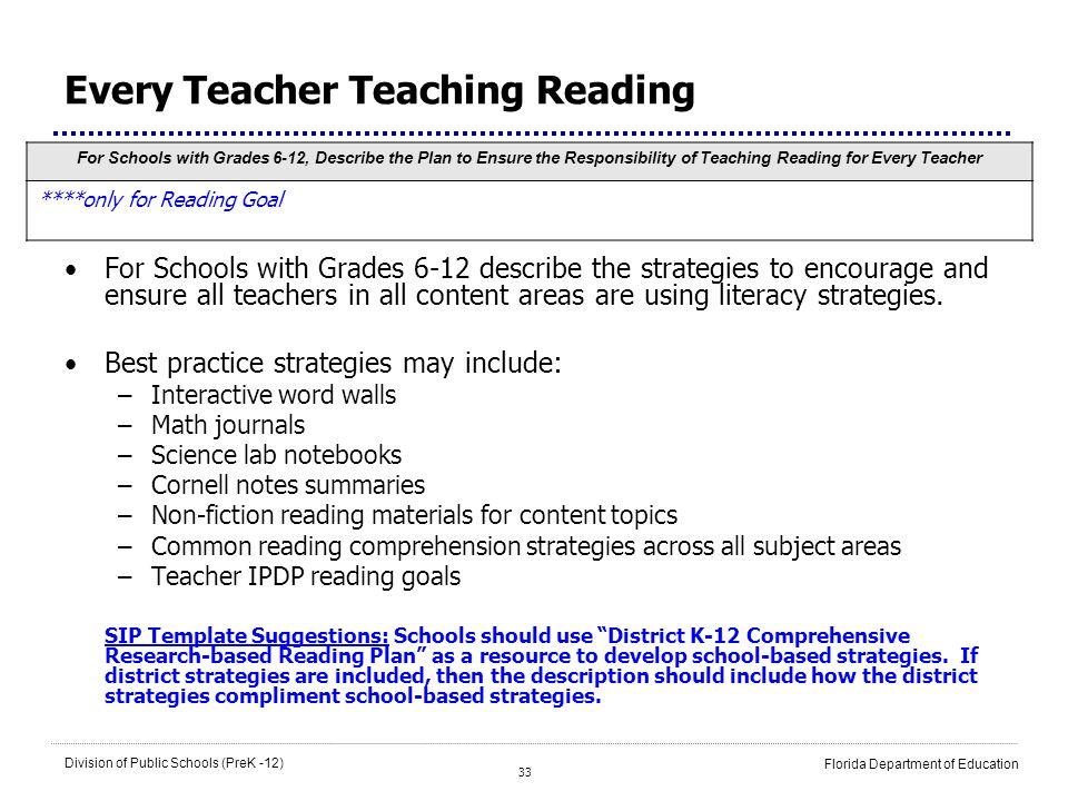 Every Teacher Teaching Reading