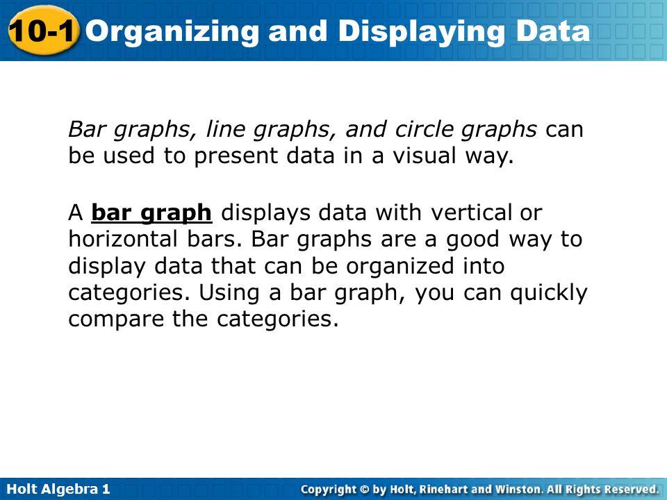 displaying data visually