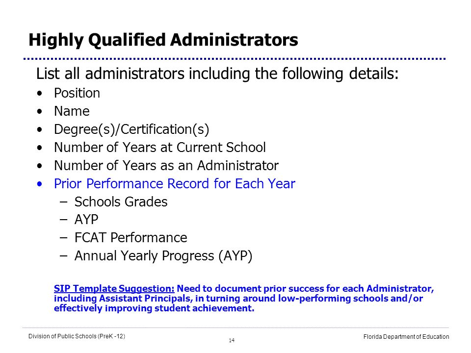 Highly Qualified Administrators