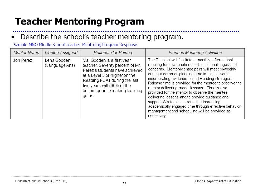 Teacher Mentoring Program