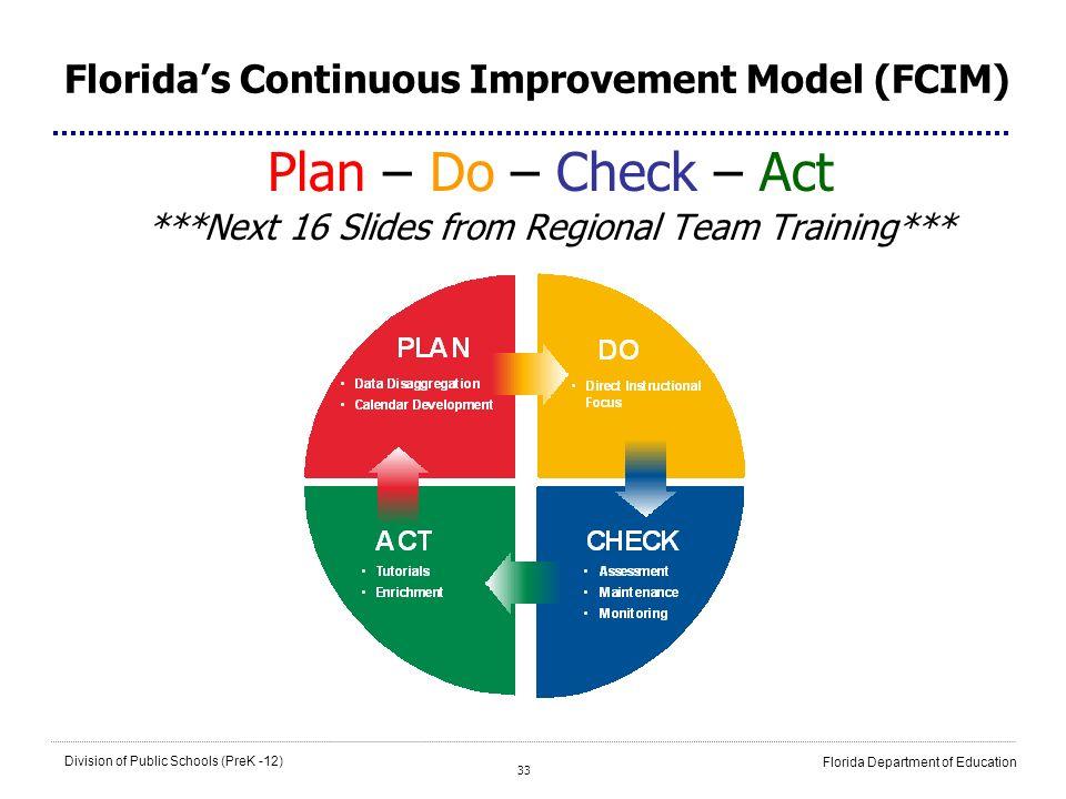 Florida's Continuous Improvement Model (FCIM)
