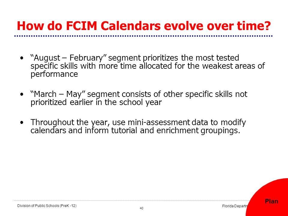 How do FCIM Calendars evolve over time