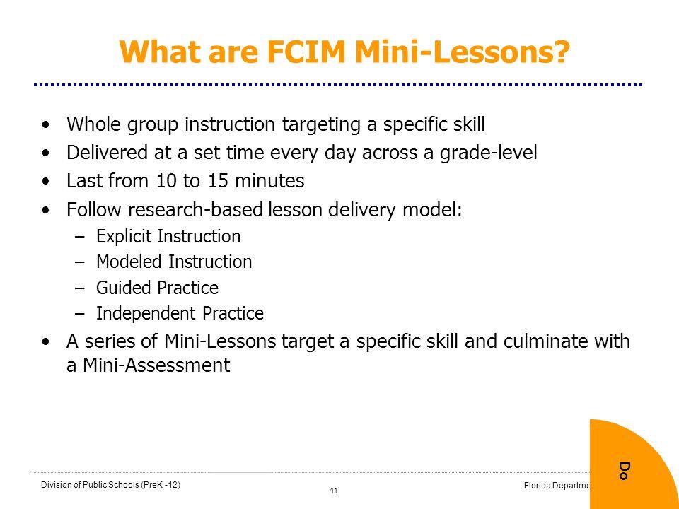 What are FCIM Mini-Lessons