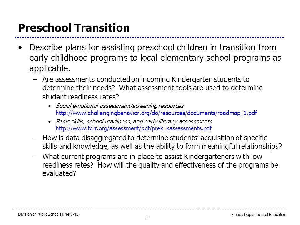 Preschool Transition