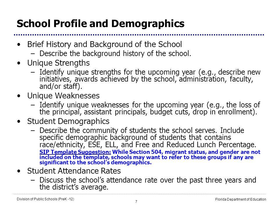 School Profile and Demographics