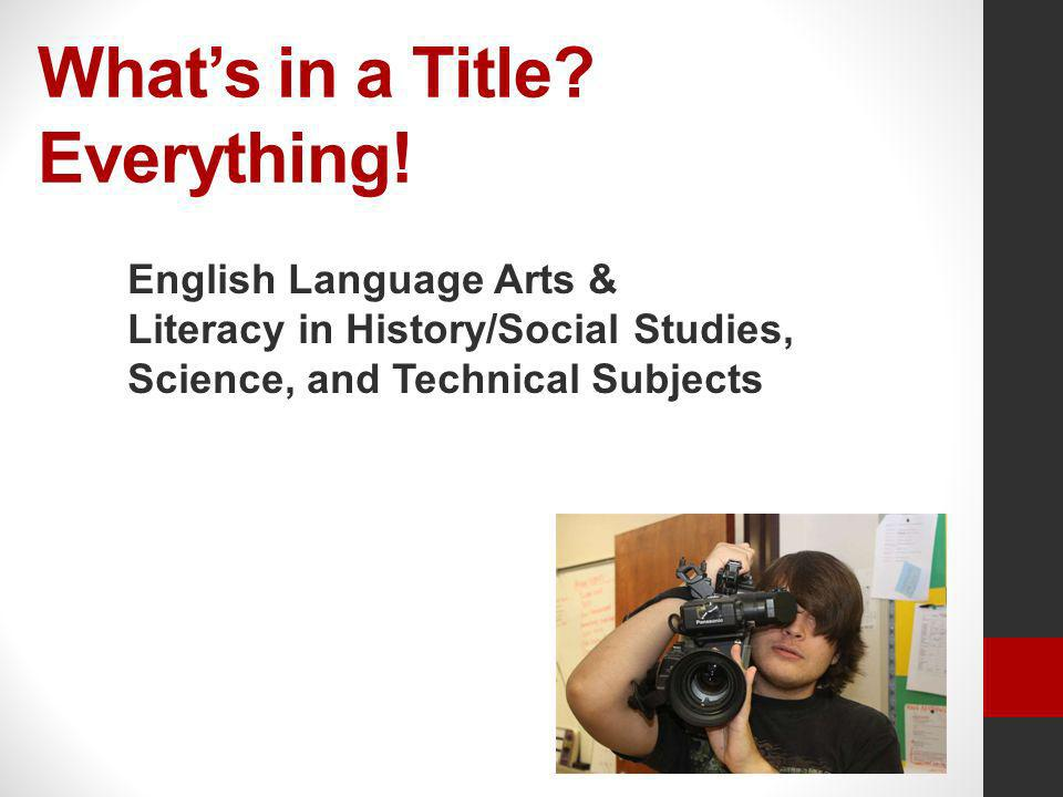 What's in a Title Everything!