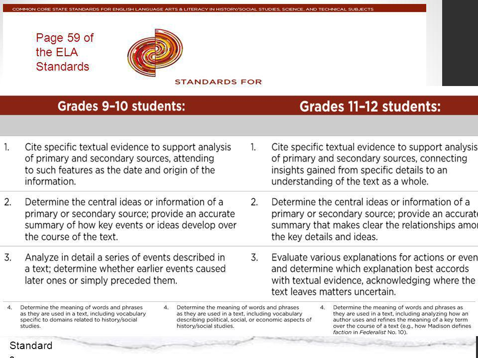 Page 59 of the ELA Standards