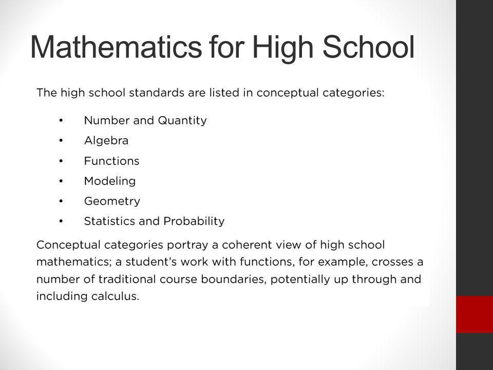 Mathematics for High School