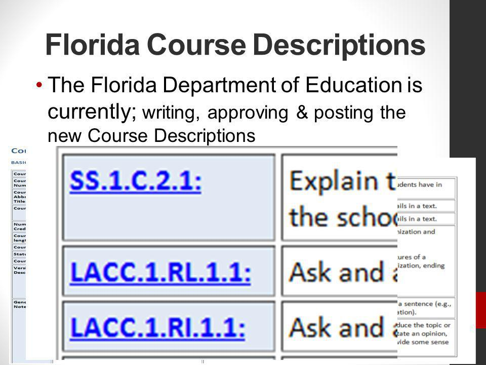 Florida Course Descriptions