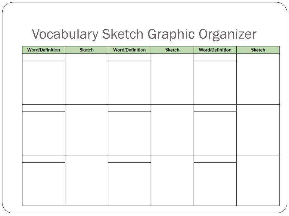 Vocabulary Sketch Graphic Organizer