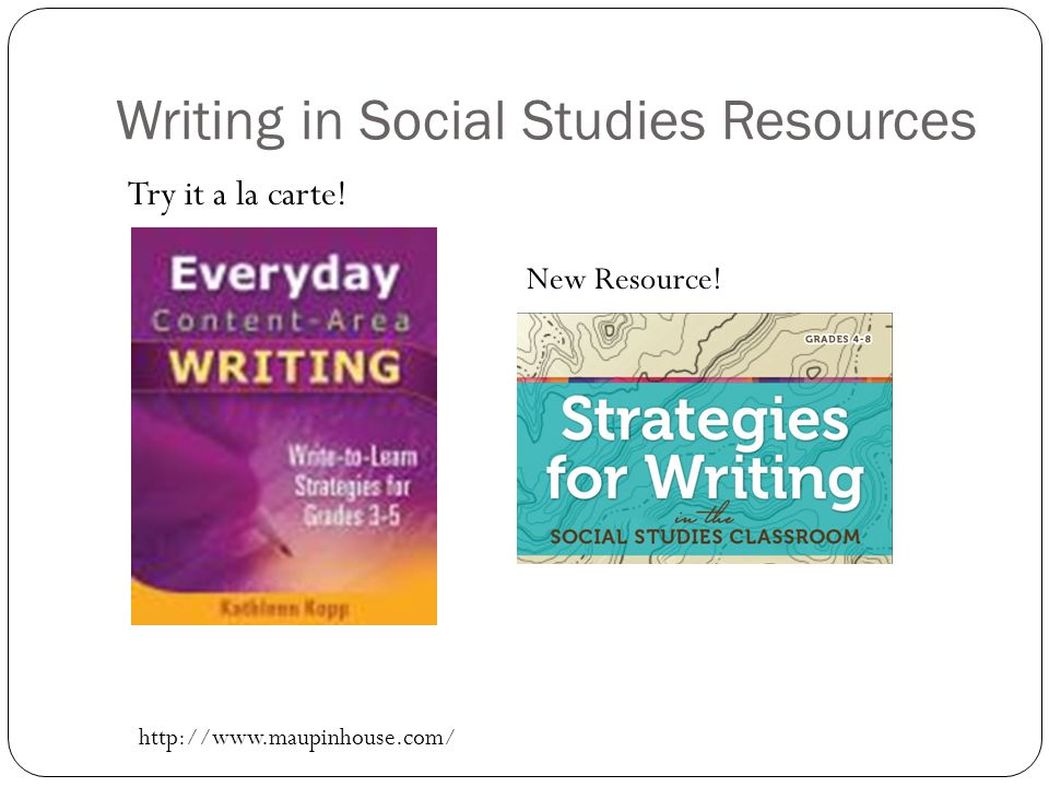 Writing in Social Studies Resources