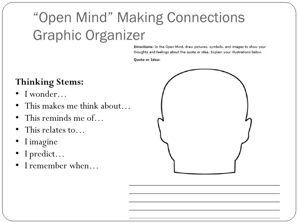 Open Mind Making Connections Graphic Organizer