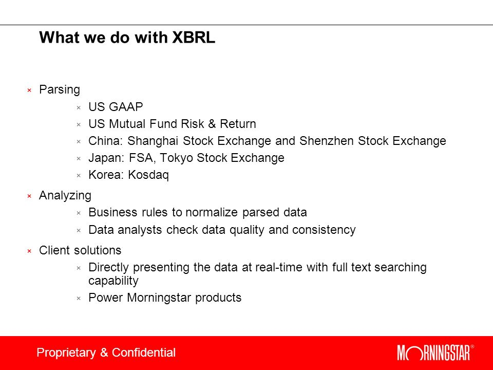 What we do with XBRL Parsing US GAAP US Mutual Fund Risk & Return