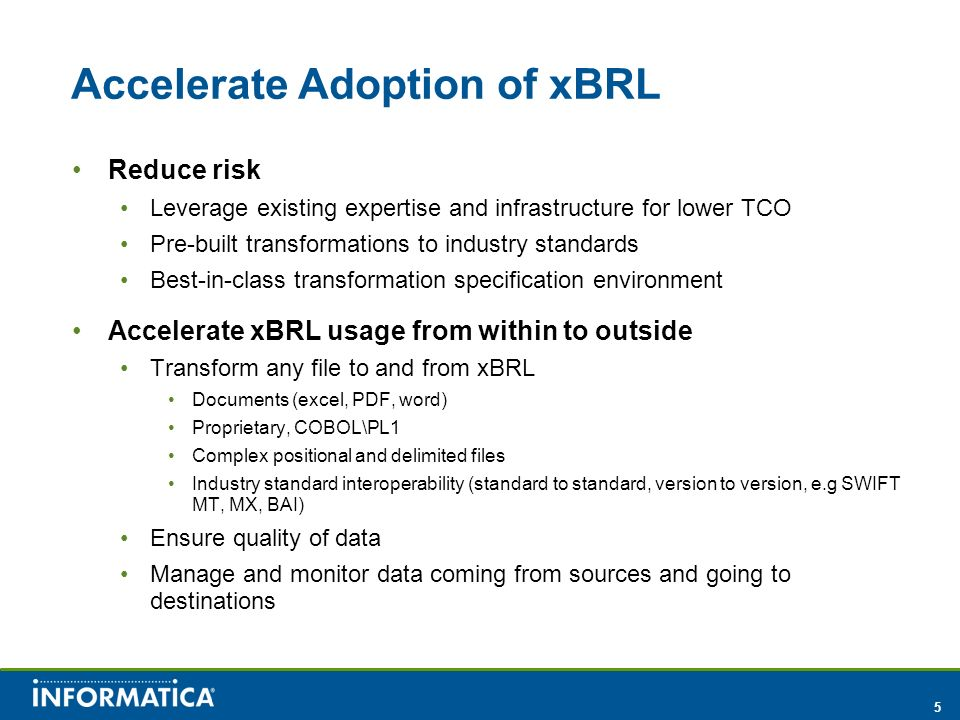 Accelerate Adoption of xBRL