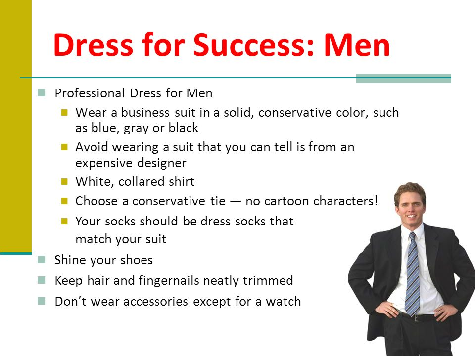Dress for Success: Men Professional Dress for Men