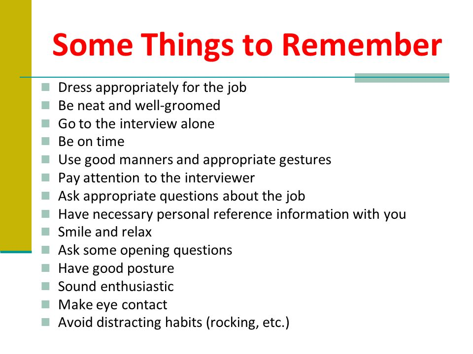 14 Some Things To Remember