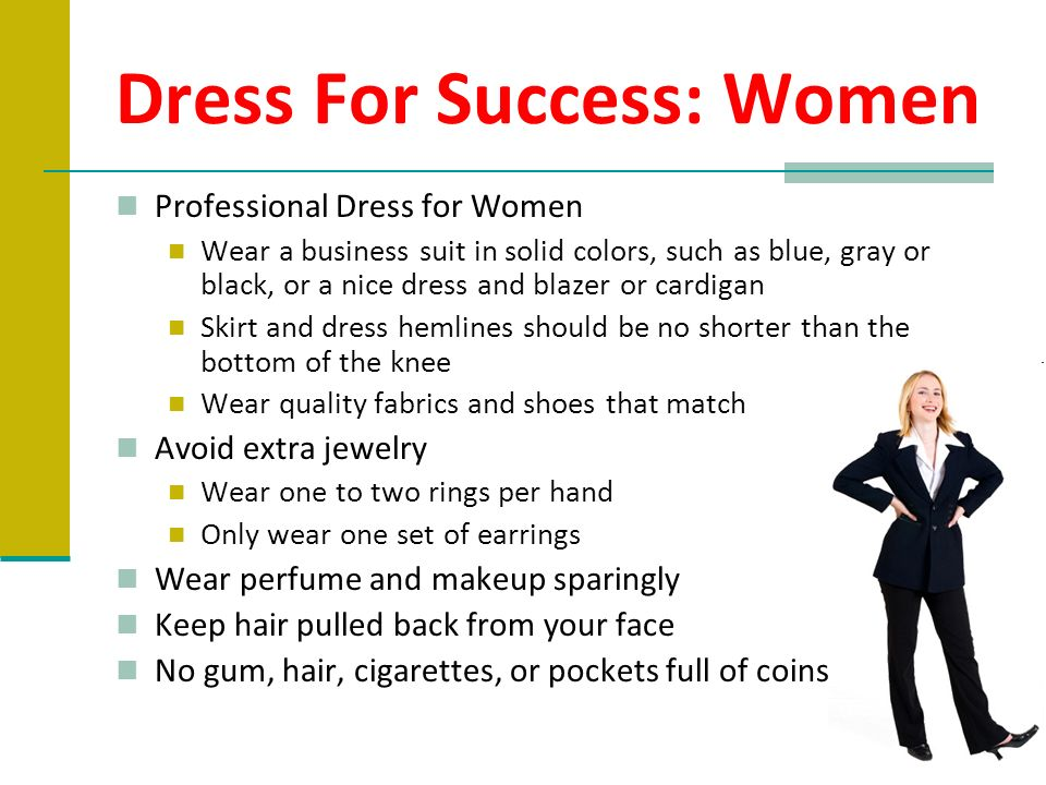 Dress For Success: Women
