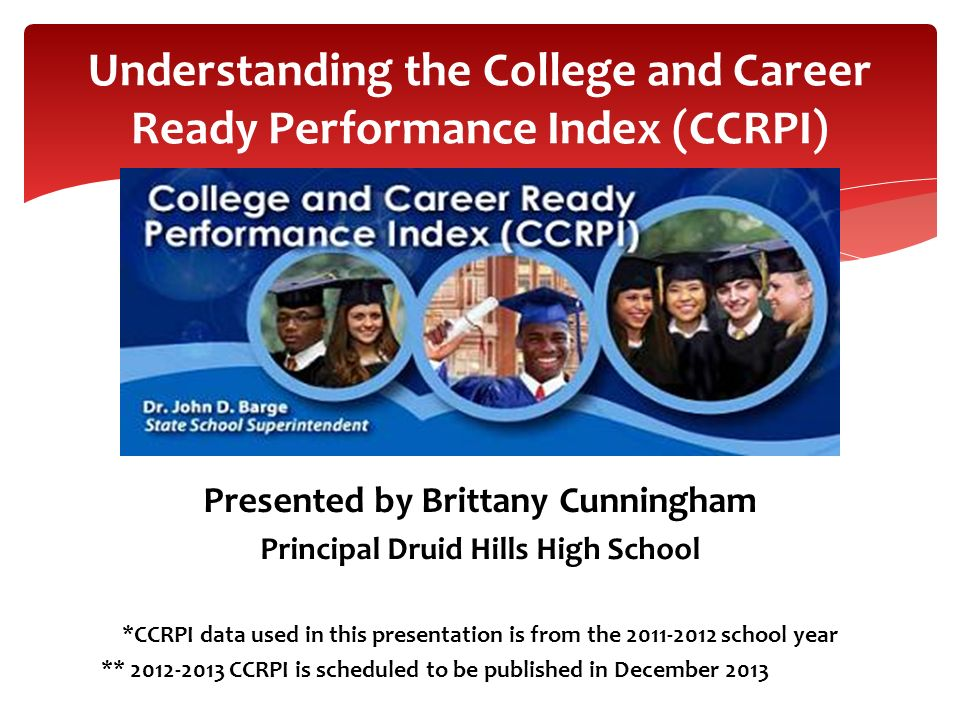 Understanding the College and Career Ready Performance Index (CCRPI)
