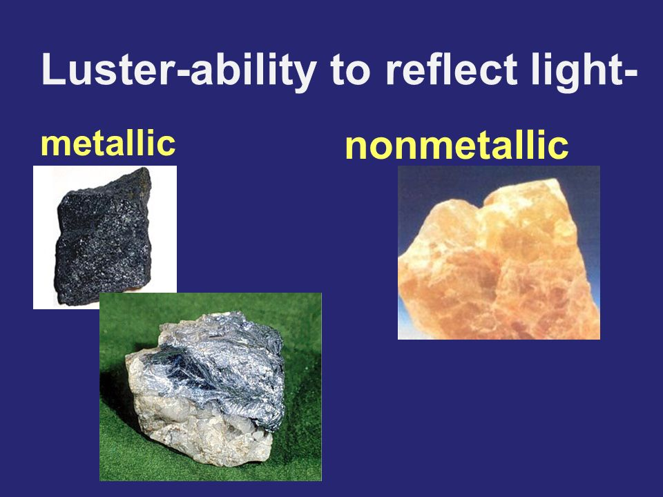Luster-ability to reflect light-