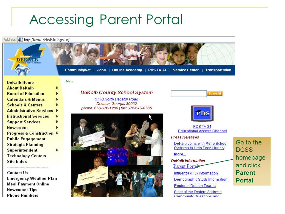 Accessing Parent Portal