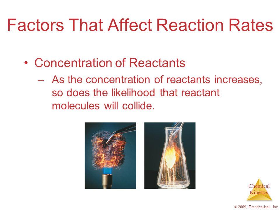 Factors That Affect Reaction Rates
