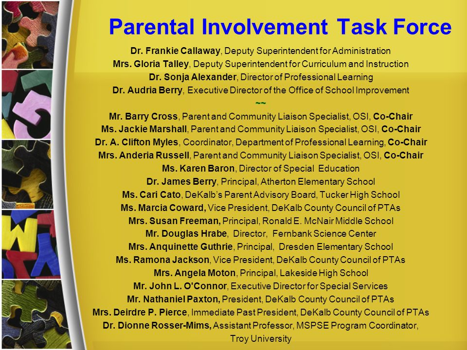 Parental Involvement Task Force