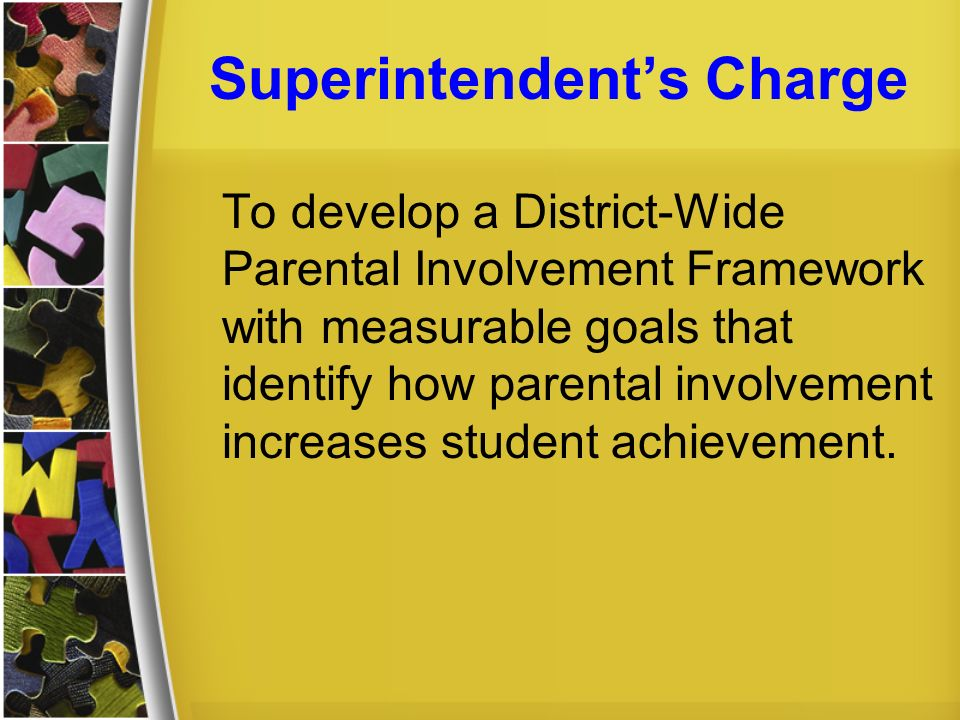 Superintendent's Charge