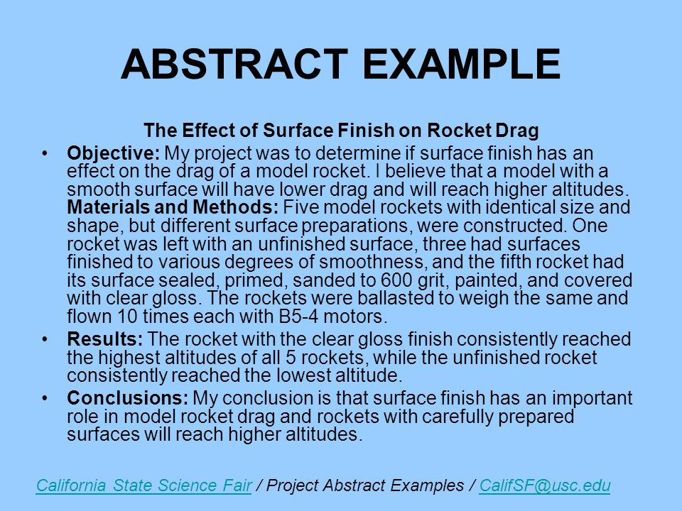Science Project Abstract Magdalene Project Org