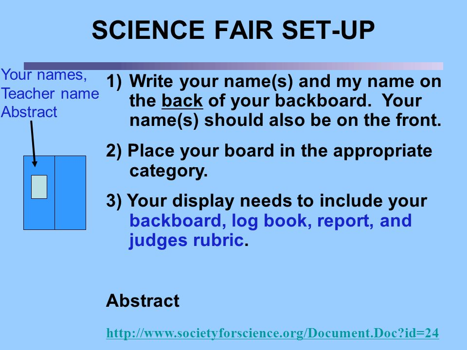 middle school science fair research paper