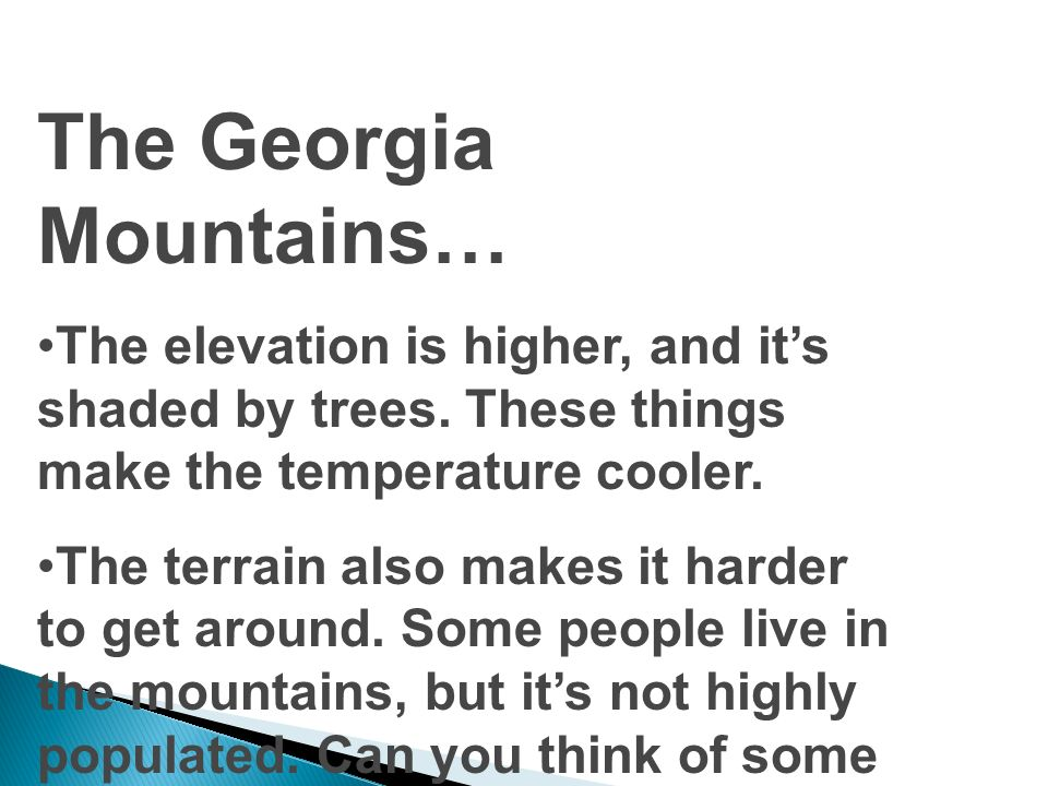The Georgia Mountains…