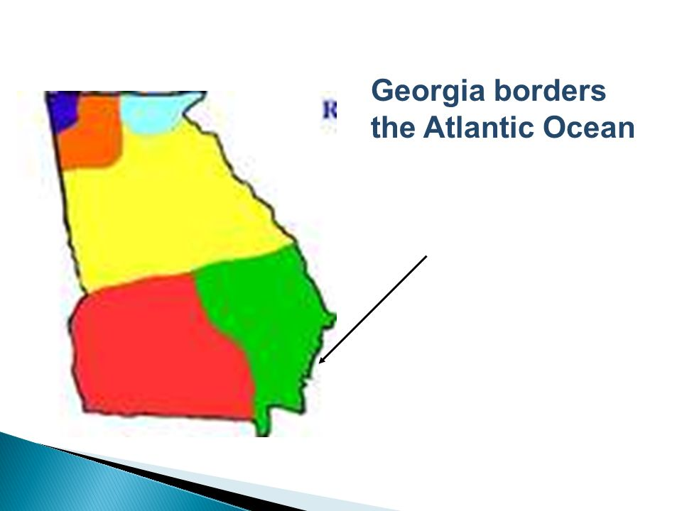 Georgia borders the Atlantic Ocean