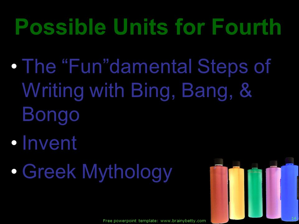 Possible Units for Fourth