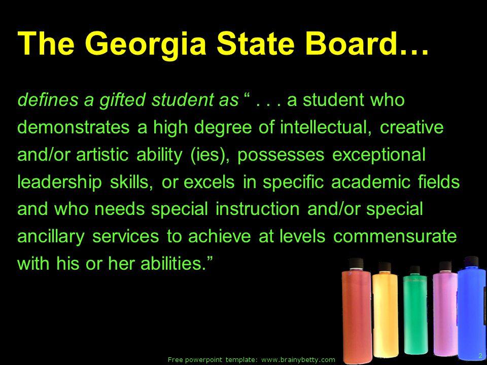 The Georgia State Board…
