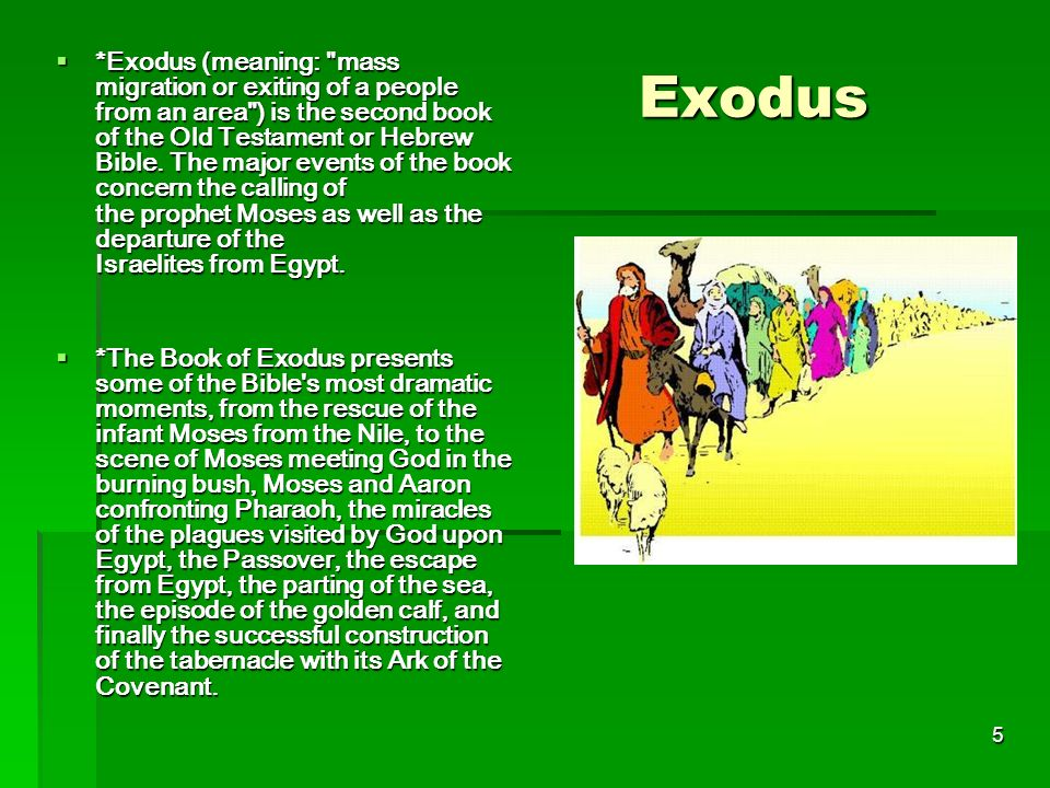 the significance of the book of exodus in the old testament In the old testament the exodus has pride of place even over the creation  whole of the introduction to the book of deuteronomy and the words of the man who .