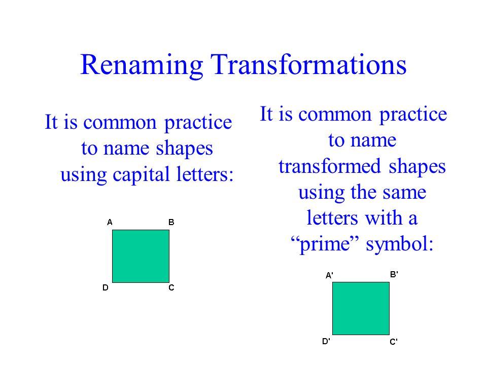 Renaming Transformations