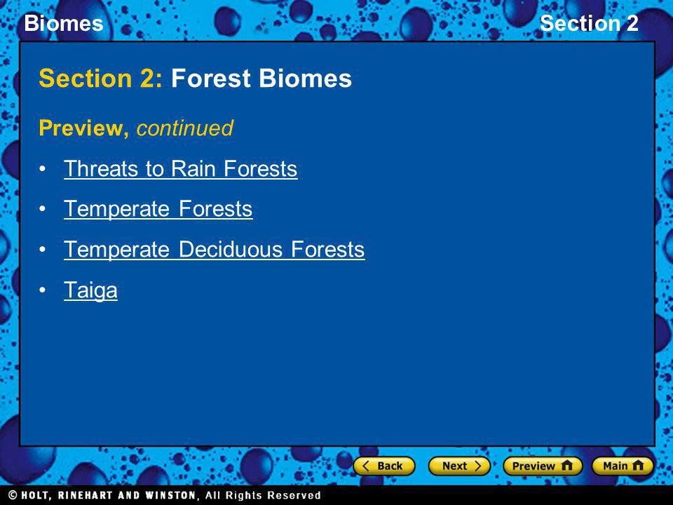 Section 2: Forest Biomes